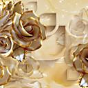 billiga Mural-Blommig Hem-dekoration Lyx Tapetsering, Duk Material lim behövs Väggmålning, Tapet