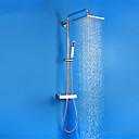 billige Hundeklær-Dusjkran - Moderne Krom Dusjsystem Keramisk Ventil Bath Shower Mixer Taps / Messing
