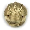 Χαμηλού Κόστους Κιτ-kinky σγουρά επάγγελμα χρυσό ανθρώπινης τρίχας chignons δαντέλα περούκες 1003