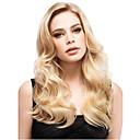 billiga Syntetiska peruker utan hätta-Syntetiska peruker Vågigt Vågigt Med lugg Peruk Blond Lång Blond Syntetiskt hår Dam Sidodel Blond