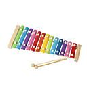 Χαμηλού Κόστους Παιχνίδια όργανα-ξύλο κίτρινο χέρι του παιδιού νοκ πιάνο για παιδιά όλα τα μουσικά όργανα παιχνιδιών