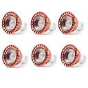 Χαμηλού Κόστους Σποτάκια LED-YWXLIGHT® 6pcs 8 W LED Σποτάκια 700-850 lm GU10 1 LED χάντρες COB Διακοσμητικό Θερμό Λευκό Ψυχρό Λευκό 85-265 V / 6 τμχ / RoHs