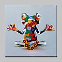 Χαμηλού Κόστους Πίνακες με Ζώα-Hang-ζωγραφισμένα ελαιογραφία Ζωγραφισμένα στο χέρι - Ποπ Άρτ Μοντέρνα Με Πλαίσιο / Επενδυμένο καμβά