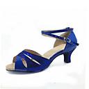Χαμηλού Κόστους Παπούτσια χορού λάτιν-Γυναικεία Παπούτσια Χορού Λαμπυρίζον Γκλίτερ Παπούτσια χορού λάτιν / Παπούτσια σάλσα Αγκράφα Πέδιλα Κοντόχοντρο Τακούνι Μη Εξατομικευμένο Ασημί / Μπλε / Χρυσό / Σουέτ / EU42