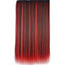 billiga Syntetisk hårförlängning-Syntetiskt hår HÅRFÖRLÄNGNING Rak Klassisk Klämma in Dagligen Hög kvalitet