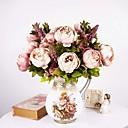 Χαμηλού Κόστους Ψεύτικα Λουλούδια-Ψεύτικα λουλούδια 1 Κλαδί Ευρωπαϊκό Στυλ Παιώνιες Λουλούδι για Τραπέζι