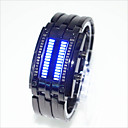Χαμηλού Κόστους Μάσκες-Ανδρικά Γυναικεία Για Ζευγάρια Ρολόι Καρπού Ψηφιακή Μαύρο / Ασημί 30 m Ανθεκτικό στο Νερό Δημιουργικό LED Ψηφιακό Μοντέρνα Μοναδικό Watch Creative - Ασημί Μαύρο / Κόκκινο Μαύρο και Μπλε / Ενας χρόνος
