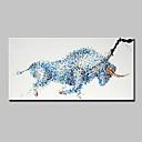 Χαμηλού Κόστους Πίνακες με Ζώα-Hang-ζωγραφισμένα ελαιογραφία Ζωγραφισμένα στο χέρι - Ζώα Μοντέρνα Με Πλαίσιο / Επενδυμένο καμβά