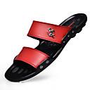 Χαμηλού Κόστους Αντρικές Παντόφλες & Σαγιονάρες-Ανδρικά Λάτεξ Καλοκαίρι Παντόφλες & flip-flops Περπάτημα Μαύρο / Καφέ / Κόκκινο