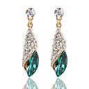 ราคาถูก ตุ้มหู-สำหรับผู้หญิง ล้าง สีดำ สีน้ำเงิน คริสตัล Drop Earrings เจ้าหญิง ต่างหู เครื่องประดับ สีดำ / สีเขียว / ฟ้า สำหรับ 1pc