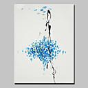 billiga Kragar, selar och koppel-Hang målad oljemålning HANDMÅLAD - Abstrakt Moderna Med Ram / Sträckt kanfas