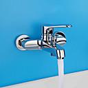 ราคาถูก ม่านปรับแสง-ห้องอาบน้ำฝักบัวร่วมสมัยที่ทันสมัยเท่านั้นวาล์วเซรามิกอย่างกว้างขวางสองหลุมเดี่ยวจัดการสองหลุมโครเมี่ยม, ห้องอาบน้ำฝักบัวก๊อกน้ำฝักบัวอาบน้ำก๊อกผสม