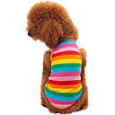 ราคาถูก เสื้อผ้าสำหรับสุนัข-แมว สุนัข T-Shirt Dog Clothes สายรุ้ง เครื่องแต่งกาย ฝ้าย สลับ แฟชั่น XS S M L XL