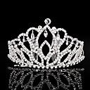 billiga Huvudsmycken till fest-Bergkristall Tiaras / Huvudbonad med Blomma 1st Bröllop / Speciellt Tillfälle Hårbonad