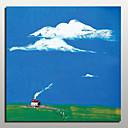 Χαμηλού Κόστους Gadget Μπάνιου-Hang-ζωγραφισμένα ελαιογραφία Ζωγραφισμένα στο χέρι - Αφηρημένο Τοπίο Μοντέρνα Με Πλαίσιο