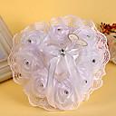 povoljno Jastuk za prstenje-Bijela 1 Uzde Kristal Šifon