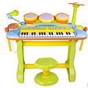 ราคาถูก ไมโครโฟน-ou rui Drum Set คีย์บอร์ดอิเล็กทรอนิกส์ Toy Musical Instrument Piano Drum Set สนุก พร้อมไมโครโฟน พลาสติก สำหรับเด็ก เด็กผู้ชาย เด็กผู้หญิง Toy ของขวัญ