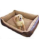 ราคาถูก ที่นอนและผ้าห่มสำหรับสุนัข-แมว สุนัข เบาะที่นอน ที่นอน ผ้าห่มเตียง หนัง ฝ้าย สัตว์เลี้ยง ผ้าห่ม กันน้ำ ผ้าขนสัตว์สีธรรมชาติ กาแฟ