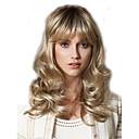 Χαμηλού Κόστους Συνθετικές περούκες χωρίς σκουφί-Συνθετικές Περούκες Σγουρά Σγουρά Περούκα Ξανθό Μεσαίο Ξανθό Συνθετικά μαλλιά Γυναικεία Ξανθό