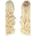 billiga Syntetisk hårförlängning-Hårförlängning med mikroring Hästsvans Syntetiskt hår Hårstycke HÅRFÖRLÄNGNING Lockigt