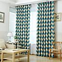 billiga Fönstergardiner-Land Mörkläggning Gardiner draperier Två paneler Vardagsrum   Curtains