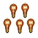 Χαμηλού Κόστους Φώτα νησί-5pcs 40W E26 / E27 A60(A19) Θερμό Λευκό 2300k Ρετρό / Με ροοστάτη / Διακοσμητικό Λαμπτήρας πυρακτώσεως Vintage Edison 220-240V