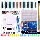 billiga Kit-uno projekt grundläggande startpaket med handledning och uno r3 för Arduino