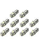 billige Interiørlamper til bil-10pcs BA9S Bil Elpærer 1 W SMD 5050 120 lm 5 LED Blinklys For Universell