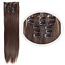 billiga Syntetisk hårförlängning-Hårstycke Rak Klassisk Syntetiskt hår HÅRFÖRLÄNGNING Klämma in Dagligen