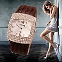 Χαμηλού Κόστους Πρακτικές και αστείες φάρσες-Γυναικεία Πολυτελή Ρολόγια Ρολόι Καρπού Diamond Watch Χαλαζίας Δέρμα Μαύρο / Λευκή / Ασημί 30 m Καθημερινό Ρολόι απομίμηση διαμαντιών Αναλογικό κυρίες Φυλαχτό Προσομοιωμένο ρολόι Diamond Μοντέρνα -