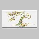 ราคาถูก ปรินต์-ภาพวาดสีน้ำมันแขวนทาสี มือวาด - ลวดลายดอกไม้ / เกี่ยวกับพฤษศาสตร์ ที่ทันสมัย พร้อมเฟรม
