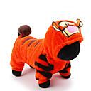 billiga Hundkläder-Katt Hund Dräkter / Kostymer Jumpsuits Tiger Vinter Hundkläder Orange Kostym Husky Labrador alaskan malamute Plysch Tecknat Cosplay Semester XXS XS S M L