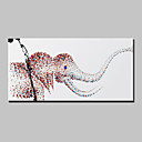 cheap Abstract Paintings-Oil Painting Hand Painted - Animals Modern With Stretched Frame