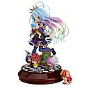 זול דמויות אקשן של אנימה-נתוני פעילות אנימה קיבל השראה מ אין חיים ללא משחק Shiro PVC 20 cm CM צעצועי דגם בובת צעצוע