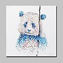billiga Djurporträttmålningar-Hang målad oljemålning HANDMÅLAD - Djur Moderna Med Ram