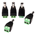 billiga Säkerhetstillbehör-Koppling 5PCS DC Power Male Jack to 2 Conductor Screw Down Connector for LED Light Controller för Säkerhet system 4*1.8*1.5cm 0.028kg
