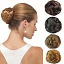 Χαμηλού Κόστους Ημέρα επιστροφής στο σπίτι-γάμου νυφικό κότσο σινιόν κλιπ κουλούρι συνθετικά ίσια μαλλιά επεκτάσεις περισσότερα χρώματα