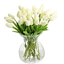 Χαμηλού Κόστους Βάζα & Καλάθι-Ψεύτικα λουλούδια 1 Κλαδί Μοντέρνο Στυλ Τουλίπες Λουλούδι για Τραπέζι