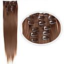 billiga spik Glitter-Syntetiskt hår HÅRFÖRLÄNGNING Rak Klassisk Klämma in Dagligen Hög kvalitet