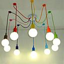 billige Klyngedesign-10-Light Lysekroner Omgivelseslys Andre Metall Mini Stil 110-120V / 220-240V Pære ikke Inkludert / E26 / E27