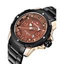 ราคาถูก เครื่องเป่าเล็บ & โคมไฟ-NAVIFORCE สำหรับผู้ชาย นาฬิกาทหาร นาฬิกาข้อมือ นาฬิกาอิเล็กทรอนิกส์ (Quartz) สแตนเลส ดำ 30 m กันน้ำ ปฏิทิน เท่ห์ ระบบอนาล็อก แฟชั่น - ขาว แดง Rose Gold