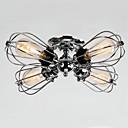 billiga Badkarskranar-QINGMING® 4-Light Takmonterad Fluorescerande Krom Metall designers 110-120V / 220-240V Glödlampa inkluderad / E26 / E27
