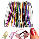 billiga Nagel stickers-30 pcs Nail Foil Striping Tape nagel konst manikyr Pedikyr Klassisk Dagligen / Foliebandspapp