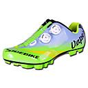 abordables Chaussures de Cyclisme-SIDEBIKE Chaussures VTT Vélo tout terrain Fibre de Carbone Respirable Antidérapant Cyclisme Vert Homme Chaussures Vélo / Chaussures de Cyclisme