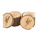 abordables Soportes para Regalo-Cajas de regalos / Cajas de Regalos(Chocolate,Madera) -Tema Clásico-Matrimonio