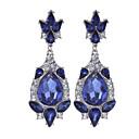 Χαμηλού Κόστους Σετ Κοσμημάτων-Γυναικεία Κοριτσίστικα Αχλάδι κυρίες Βίντατζ Στρας Επιχρυσωμένο Σκουλαρίκια Κοσμήματα Μπλε Για Γάμου Πάρτι Καθημερινά Causal / Κρύσταλλο