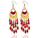 povoljno Naušnice-Žene Kićanka Naušnice Jewelry Crn / Crvena / Plava Za Vjenčanje