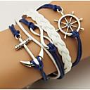 ราคาถูก สร้อยข้อมือ-สำหรับผู้ชาย สำหรับผู้หญิง สร้อยข้อมือ Wrap กี่สร้อยข้อมือ Anchor โบฮีเมียน สองชั้น โลหะผสม สร้อยข้อมือเครื่องประดับ ฟ้า สำหรับ ทุกวัน ที่มา