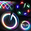 olcso Kerékpáros mez-LED Kerékpár világítás szelepsapkát villogó fények kerék fények Hegyi biciklizés Kerékpár Kerékpározás Vízálló Többféle üzemmód LED fény AkkumulátorBattery Kerékpározás / IPX-4