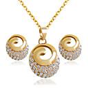 Χαμηλού Κόστους Σετ Κοσμημάτων-Γυναικεία Νυφικό κόσμημα σετ Σκουλαρίκια Κοσμήματα Χρυσαφί Για Γάμου Πάρτι